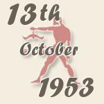 13 october 1953 birthdayscan com