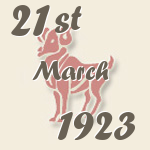 Aries, 21. March 1923.