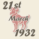 Aries, 21. March 1932.