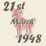 Aries, 21. March 1948.