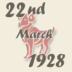 Aries, 22. March 1928.