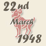 Aries, 22. March 1948.