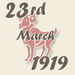 Aries, 23. March 1919.