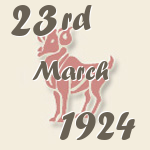 Aries, 23. March 1924.