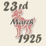 Aries, 23. March 1925.