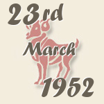 Aries, 23. March 1952.