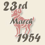 Aries, 23. March 1954.