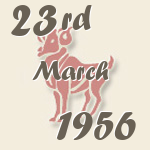 Aries, 23. March 1956.