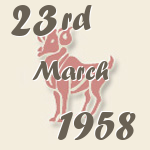 Aries, 23. March 1958.