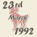 Aries, 23. March 1992.
