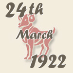Aries, 24. March 1922.