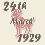 Aries, 24. March 1929.