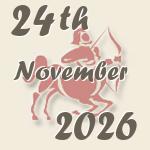 24  November 2026  - birthdayscan com