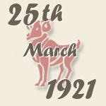 Aries, 25. March 1921.