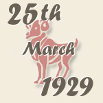 Aries, 25. March 1929.