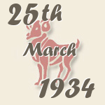 Aries, 25. March 1934.