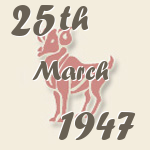 Aries, 25. March 1947.