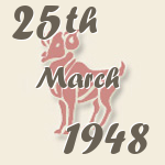 Aries, 25. March 1948.
