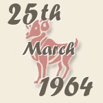 Aries, 25. March 1964.