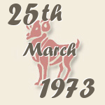 Aries, 25. March 1973.