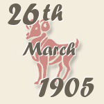 Aries, 26. March 1905.