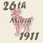 Aries, 26. March 1911.