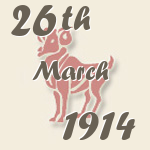 Aries, 26. March 1914.