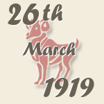 Aries, 26. March 1919.