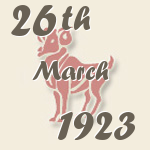 Aries, 26. March 1923.