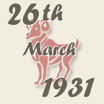 Aries, 26. March 1931.