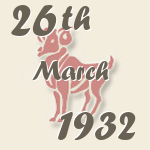 Aries, 26. March 1932.