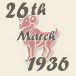 Aries, 26. March 1936.