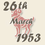 Aries, 26. March 1953.