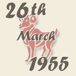 Aries, 26. March 1955.