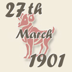 Aries, 27. March 1901.