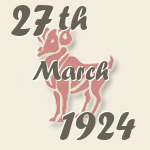 Aries, 27. March 1924.