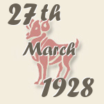 Aries, 27. March 1928.