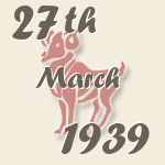 Aries, 27. March 1939.