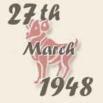 Aries, 27. March 1948.