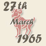 Aries, 27. March 1965.