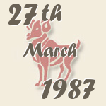 Aries, 27. March 1987.