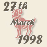 Aries, 27. March 1998.