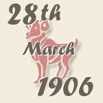 Aries, 28. March 1906.