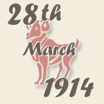 Aries, 28. March 1914.
