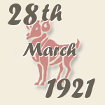Aries, 28. March 1921.