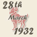 Aries, 28. March 1932.