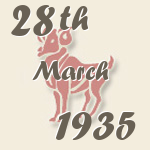 Aries, 28. March 1935.