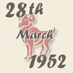 Aries, 28. March 1952.