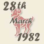 Aries, 28. March 1982.