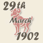 Aries, 29. March 1902.